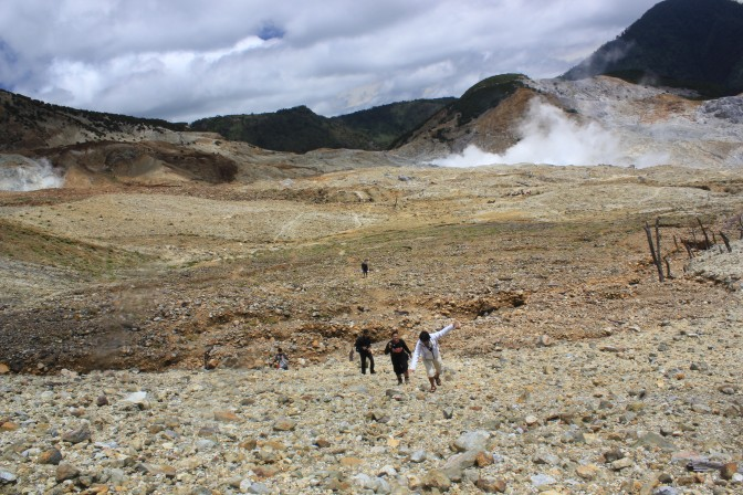 Just Back: First experience of hiking in Papandayan Mountain, Indonesia
