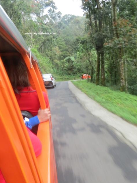 Ontang Anting ride to Kawah Putih site