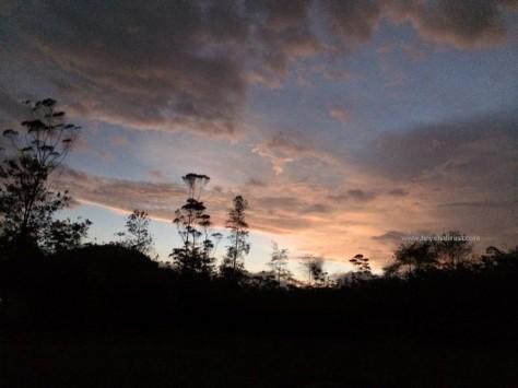ranca upas sunset